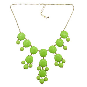 N-4263 New Women Bubble Bib Statement Fashion Necklace Choose From 3 Colors