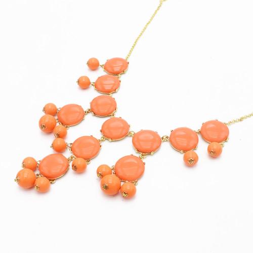 N-4263 New Women Bubble Bib Statement Fashion Necklace Jewelry Gift