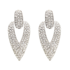 E-4761 2 Colors Trendy Cone-Shape Rhinestone Earring For Women Jewelry Design