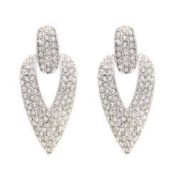 E-4761 2 Colors Trendy Cone-Shape Rhinestone Earring For Women Jewelry Design