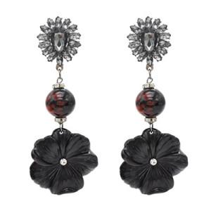 E-4763 Bohemian Resin Flower Statement Earring Ear Stud for Fashion Women