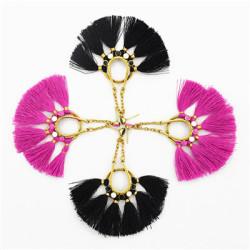 E-4768 2 Colors Trendy Drop Dangle Tassel  Earrings For Women  Jewelry  Design