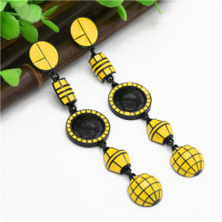 E-4770  Bohemian Statement Dangle Earring Big Circle Ear Stud for Fashion Women Party