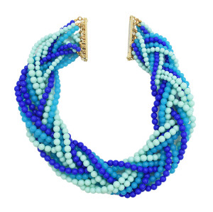 N-1022 New Style 3 Colors Option Heavy Bohemia Multilayers Beads Weave Chains Statement Necklace