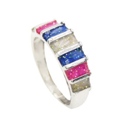 R-1500   Fashion Simple Colorful Enamel Ring For Women Party Bridal Wedding Ring