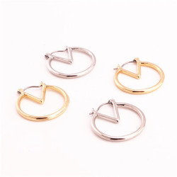 E-4784 2 Colors Simple Design Trendy  Round Pretty Stud Earring For Women Jewery Design