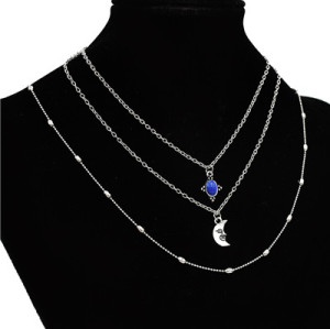 N-7100 Trendy Pendant Necklace Clavicular Chain Multilayer Necklace