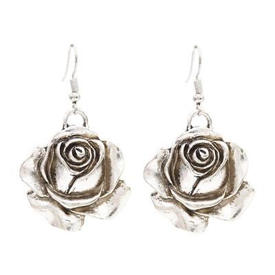 E-4789 2 Styles Trendy Vintage Silver flower Leaf Earring For Women Jewelry Design