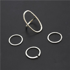 R-1502 Fashion Gold 4pcs/set Vintage Joint Knuckle Nail Midi Ring Set Jewelry