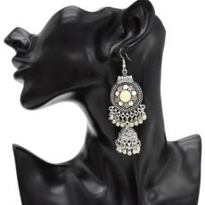 E-4793  Women' s Cute Ear Jewelry Drop Dangle Hat Design Tassel Beads Hook Earring