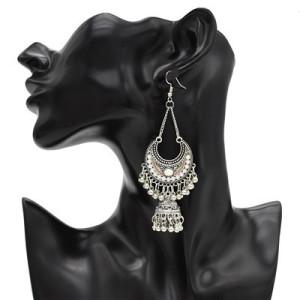 6 Colors Vintage Silver Tassel Drop Dangle Earrings For Women Jewelry Design