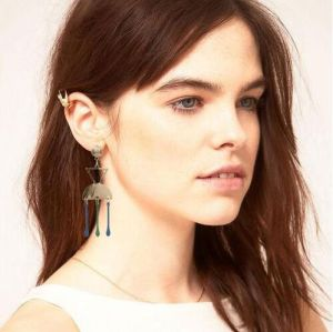 E-4780 Personality Long Tassel Earrings Inverted Triangle Earrings Geometric Earrings
