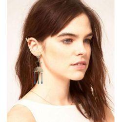 E-4780 Personality Long Tassel Earrings Inverted Triangle Earrings Geometric Earrings