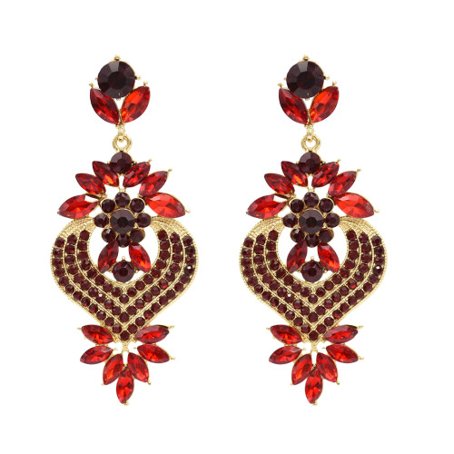 E-4800 5 colors Bohemian crystal Drop Earrings Stud Earring Wedding Bridal Ear Jewelry