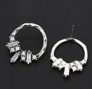 E-4795 Vintage Silver Gold Metal Rhinestone Drop Dangle Earrings for Women Boho Wedding Party Jewelry