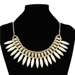 N-3040 Top fashion design luxurious gem pendant choker statement necklace for women