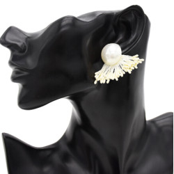 E-4807 Korean Style Fashion Jewelry Pearl Tassel Stud Earrings For Women