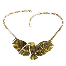 N-3252 European style Fashion The eagle expanded its wings Choker Bib Necklace