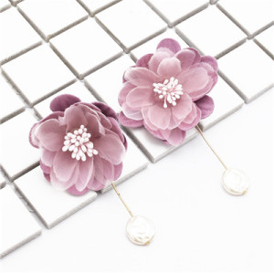 E-4819 Fashion Earrings Dangle Big Flower Earring for Wedding Party