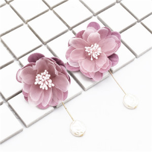 Fashion Earrings Dangle Big Flower Earring for Wedding Party