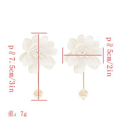 E-4819 Fashion Earrings Dangle Big Flower Earring for Wedding Party