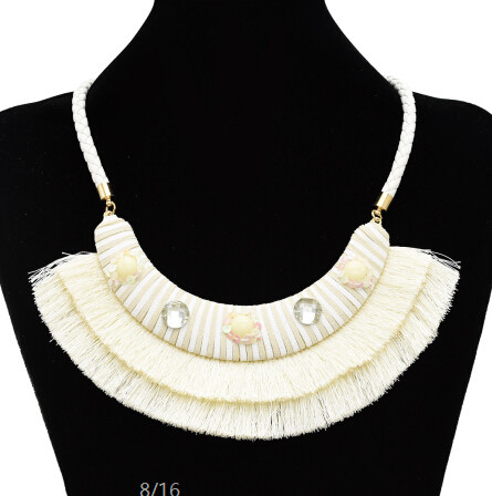 N-7112 5 Colors Bohemain Leather Chain Fringe Tassel Pendant Necklaces for Women Wedding Party Jewelry