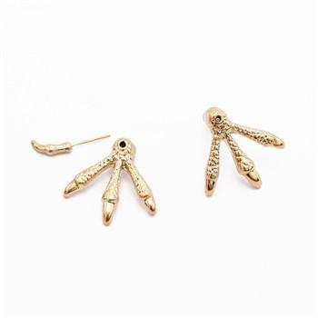 E-1138 Fashion Gothic Punk Silver Gold plated Eagle Claw Ear stud Jewelry