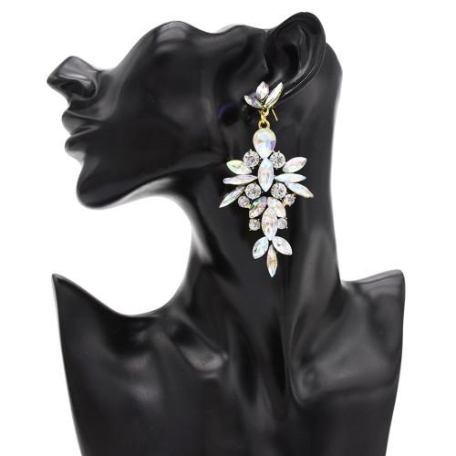 E-4835 Fashion Long Drop Earrings Dress Earrings Full Rhinestone Wedding Earring