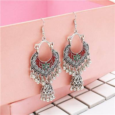 E-4831 Vintage Silver Tassel Drop Dangle Earrings For Women Jewelry Design