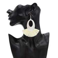 E-4836 8 Colors Trendy Sheet Metal Plastic Paper Tassel Drop Earring For Women Jewelry Design