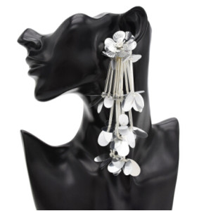 E-4843 Bohemian Vintage Sequins Flower Earrings Acrylic Sequins Tassel Earrings Pendant Drop Dangle Earrings Hook Earring