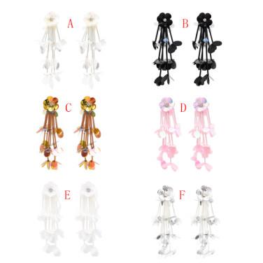E-4843 Bohemian Vintage Sequins Flower Earrings Acrylic Sequins Tassel Earrings Pendant Drop Dangle Earrings Hook Earring