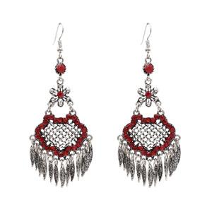 E-4838 Vintage Long Ethnic Drop Dangle Earrings Leaf Pendant Earrings for Women