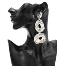 E-4844 2 Colors Irregular Sheet Metal Drop Earring For Women Jewelry Design