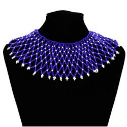 N-7115 Bohemian Resin Bead Tassels Fashion Choker Necklace Pendant