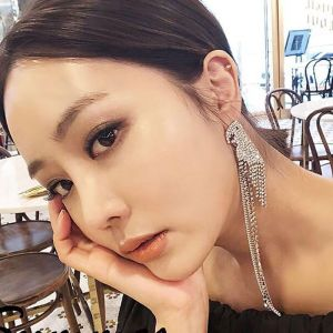 E-4852 Luxury Bird Shape Rhinestone Long Drop Statement Earrings for Bridal Wedding Party Jewelry