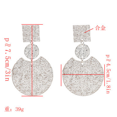 E-4857 5 Colors  Sheet Metal Drop Earring For Women Jewelry Design