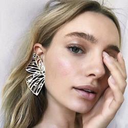 E-4854 Fashion Jewelry Big Hollow out Leaf Drop Earrings for Women Boho Party Jewellry
