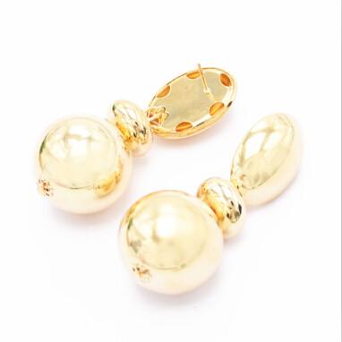 E-4853 2 colors Bohemian Vintage Silver Gold Round Oval Ball Tassel Dangle Earrings Drop Earrings Personality Women Ear Jewelry