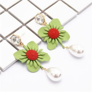 E-4861 Fashion Earrings Drop Beautiful Flower Earring for Wedding