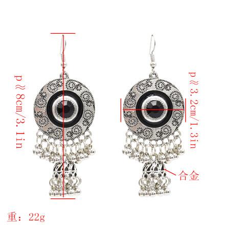 E-4870 Vintage Silver Tassel Drop Dangle Earrings For Women Jewelry Design