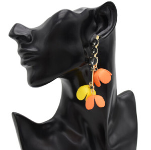 E-4878 6 Colors Trendy Acrylic Flower long Pendant  Drop Earrings Crystal Dangle Earrings For Women Jewelry Design