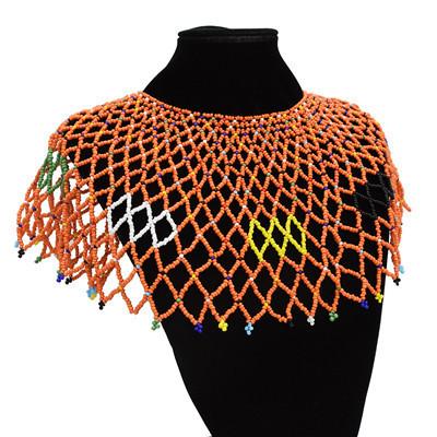 N-7120 3 Colors Trendy Bohemian Resin Bead Tassels Choker Necklace Pendant Jewelry Design