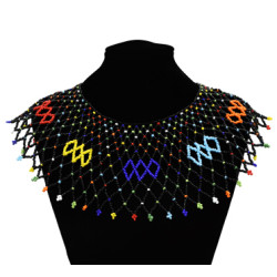 N-7118 Handmade Ethnic Choker Necklace Bib Collares Multicolor Beads Statement Necklaces Boho Jewelry Women Accessories