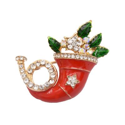 P-0419 Creative Brooch Pin Pendant Necklace Christmas Gift Enamel Rhinestone Wedding Jewelry