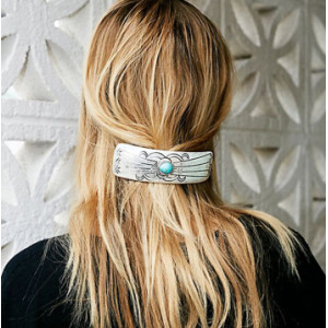 Fashion Gold/Silver Blue Stone hairpin Hair Clip jewelry For Women