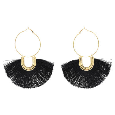 E-4876 5 Colors Trendy Alloy Cotton Thread Tassel  Drop Earring For Women Jewelry Design