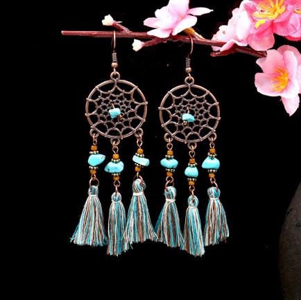 E-4884 3 Style Bronze thread Thread Tassel Drop Dangle Earrings Jewelry
