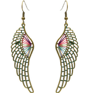 E-4641 3 Styles Vintage Bronze Bohemian Geometric Skull Wing Drop Earrings Party Jewelry