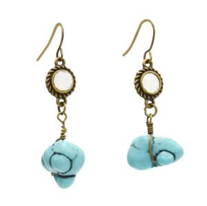 E-4892 2 Style Vintage Geometric Shape Long Drop Earrings for Women Boho Party Jewelry